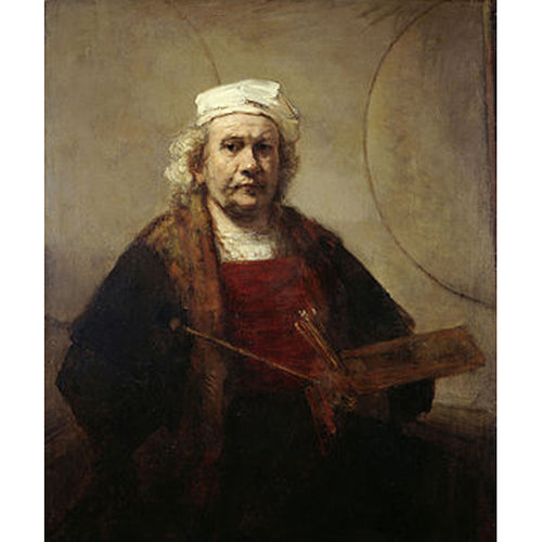 Self-Portrait with Two Circles - Rembrandt DIY Painting By Numbers Kit