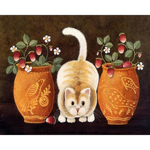 Cat and Pots - DIY Painting By Numbers Kit