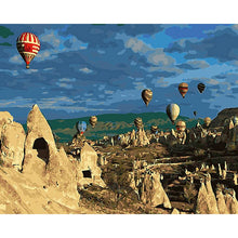 Hot Air Balloon Adventure - DIY Painting By Numbers Kit