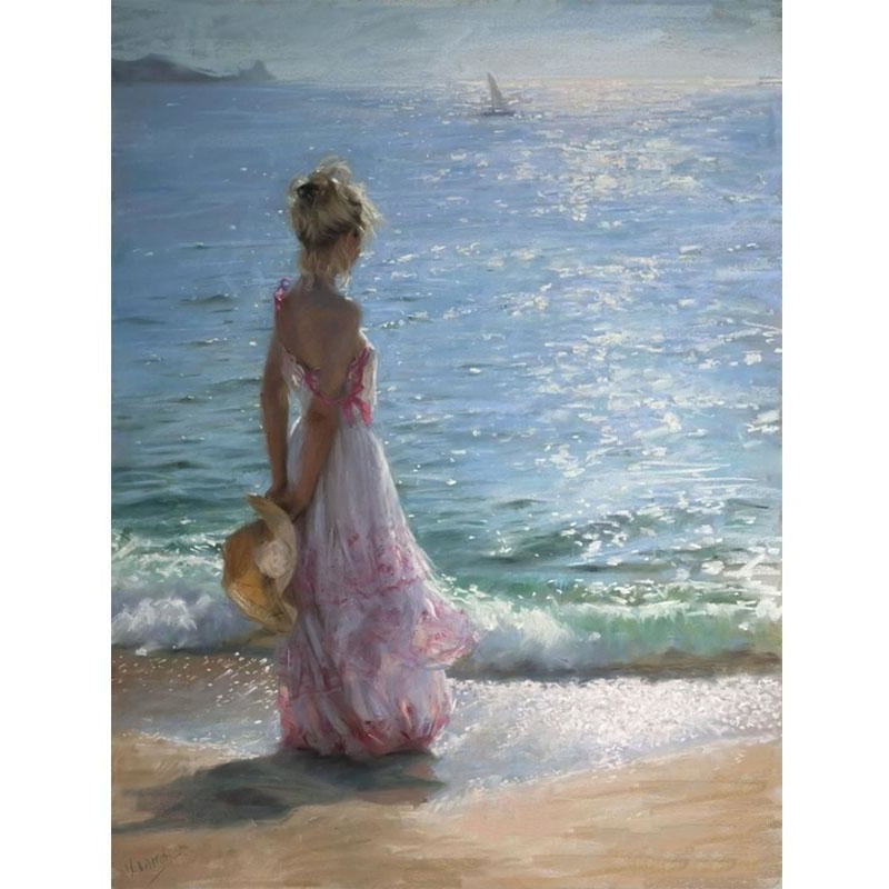 Girl By the Beach - DIY Painting By Numbers Kit