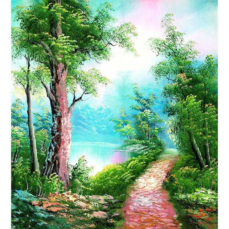 Forest Path - DIY Painting By Numbers Kit