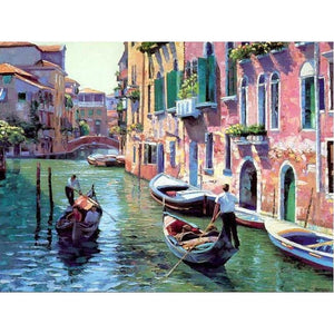 Boating in Venice - DIY Painting By Numbers Kits