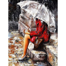 Lonely Woman in the Rain - DIY Painting By Numbers Kits