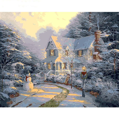 Christmas Snow Night - DIY Painting By Numbers Kit