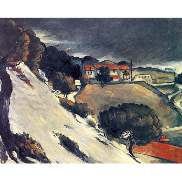 Melting Snow - Paul Cezanne DIY Painting By Numbers Kit