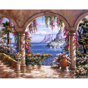 Beautiful Balcony View - DIY Painting By Numbers Kits