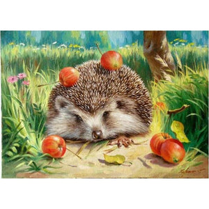 Hedgehog in a Lawn - DIY Painting By Numbers Kits