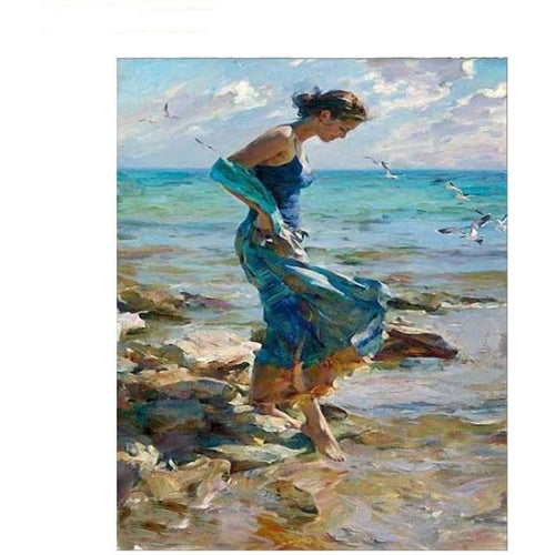Feet in the Sea - DIY Painting By Numbers Kit