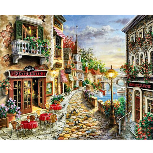 A City's Sea View - DIY Painting By Numbers Kit