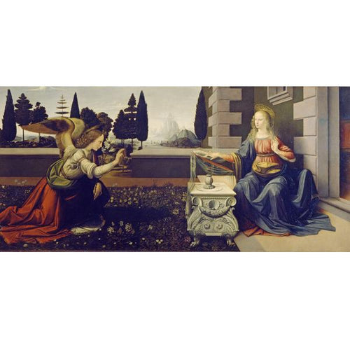 Annunciation - Leonardo Da Vinci DIY Painting By Numbers Kit