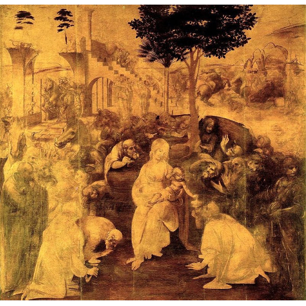 The adoration of the magi - Leonardo Da Vinci DIY Painting By Numbers Kit