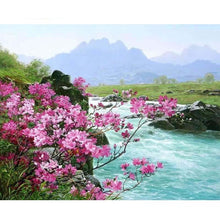 Romantic River Landscape DIY Painting By Numbers Kit