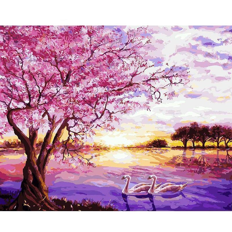 Purple Romantic DIY Painting By Numbers Kit