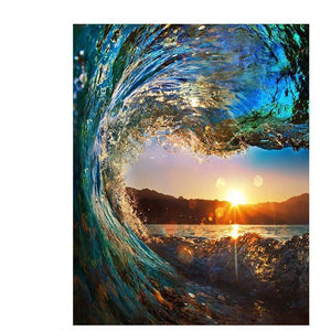 Wave Sunset DIY Painting By Numbers Kit