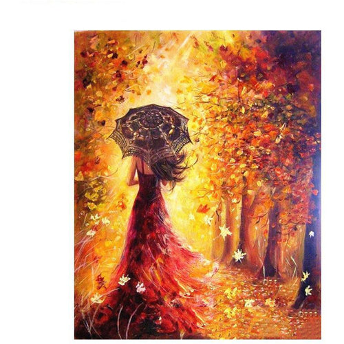 Beautiful Autumn Girl - DIY Painting By Numbers Kits