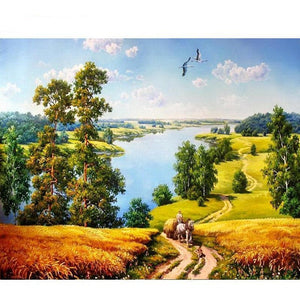 Landscape Calligraphy DIY Painting By Numbers Kit