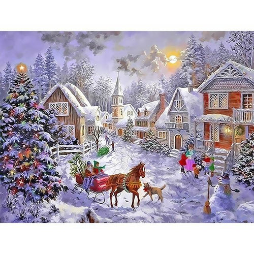 Christmas Town At Peace - DIY Painting By Numbers Kits