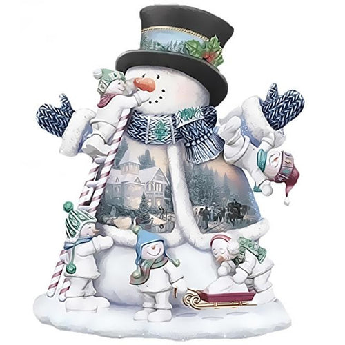 Snowman's Parade - DIY Painting By Numbers Kits