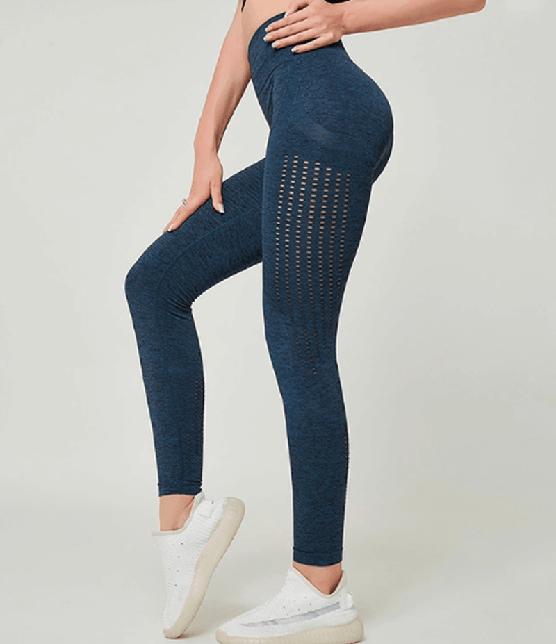Mesh Gym Leggings (Dark-Blue)