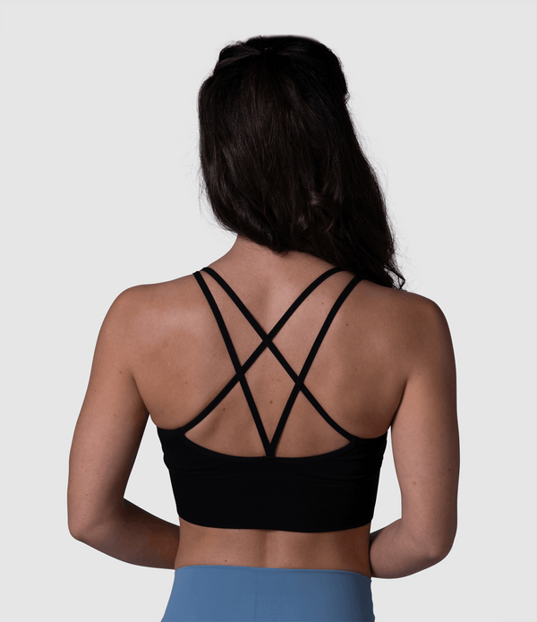 Strappy Yoga Bra (Black)
