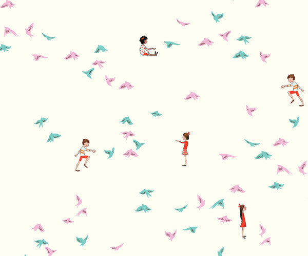 With the Birds Wallpaper