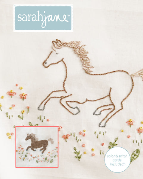 Wild Horse Embroidery Pattern