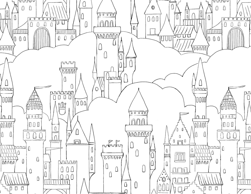 180 COLORING PAGES E-Book