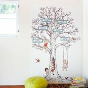Family Tree Extra Name Frame Wallpaper Decal