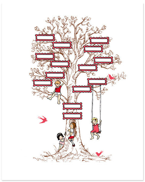Family Tree (Pink)