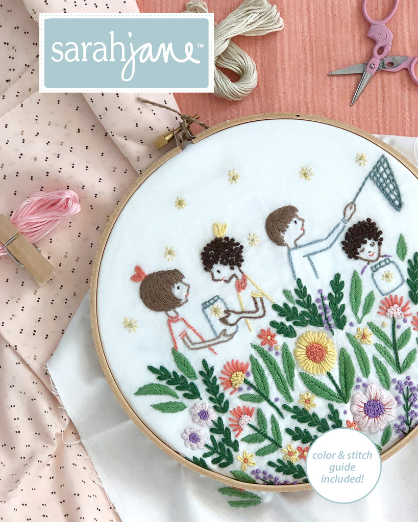 Firefly Garden Embroidery Pattern