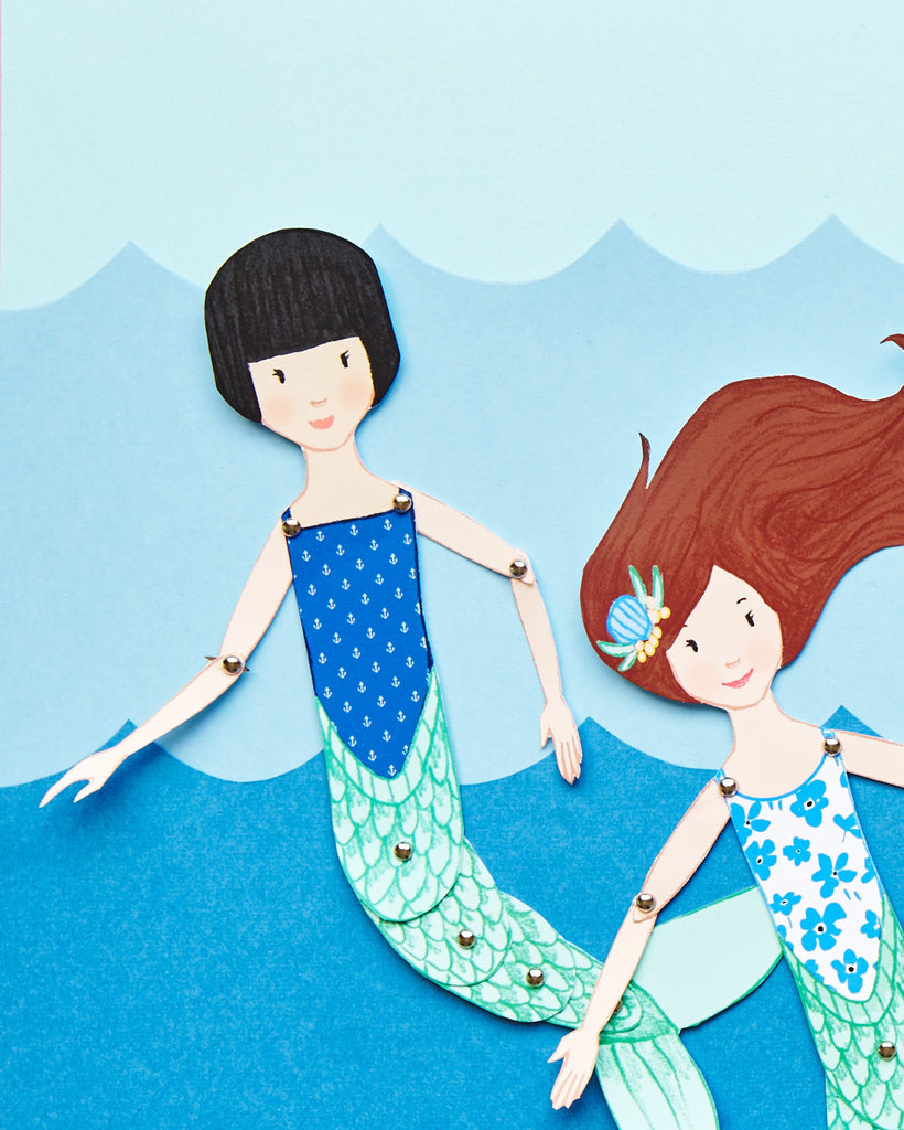 Mermaid Paper Puppets