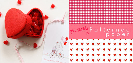 Valentines - PDF Printable Set