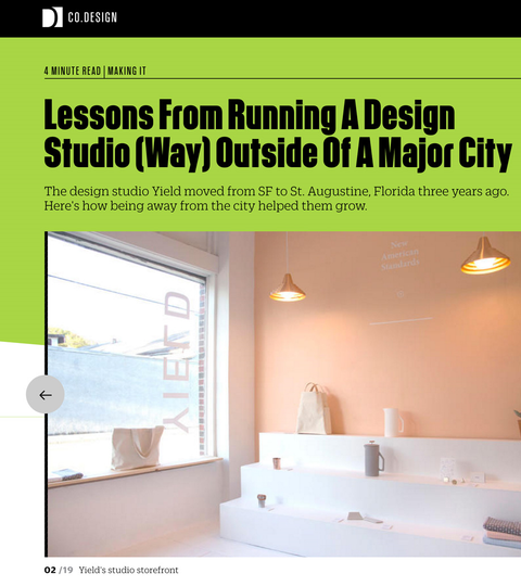 Re: Lessons From Running A Design Studio (Way) Outside Of A Major City