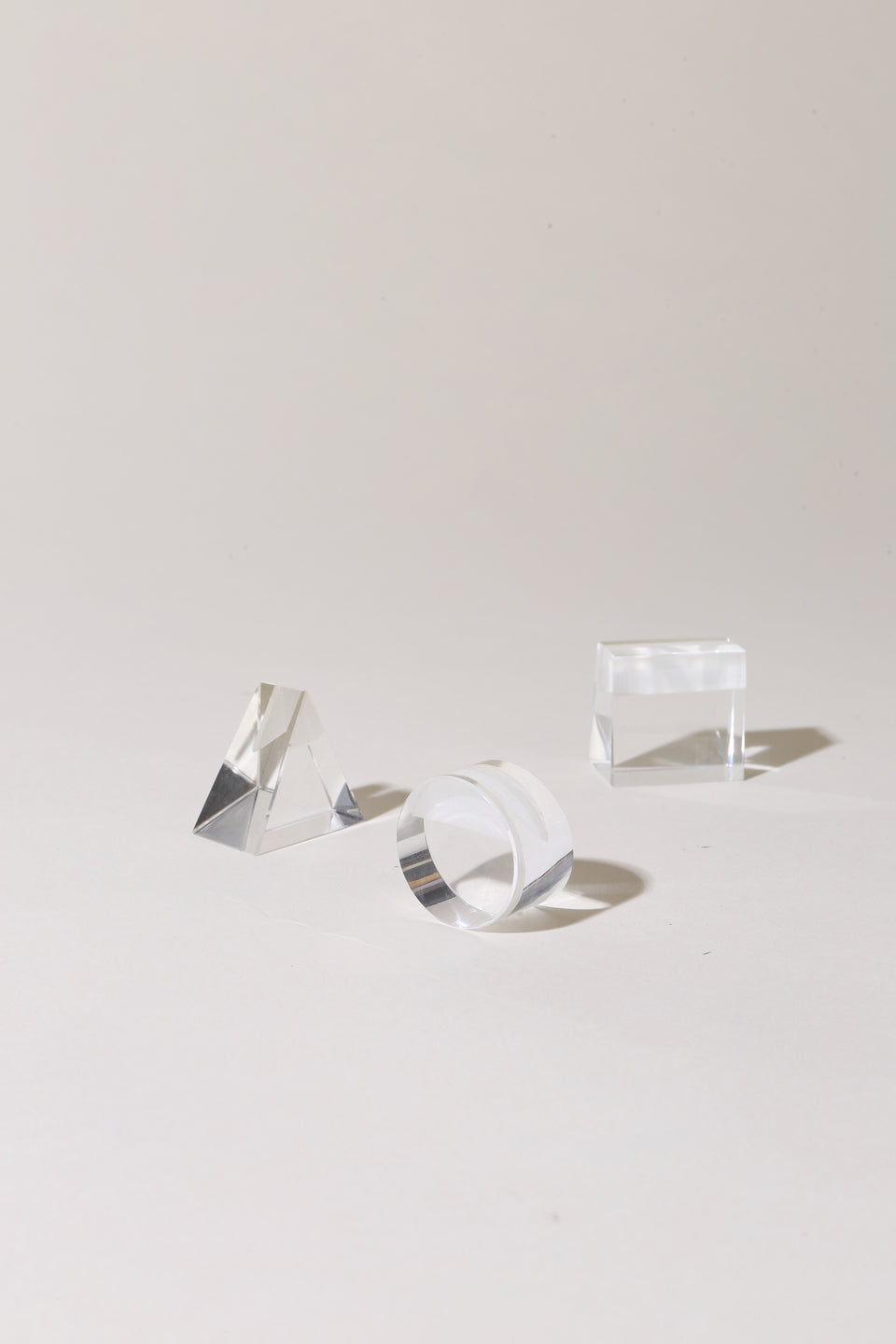 Glass Prism Geo Stands - Individual