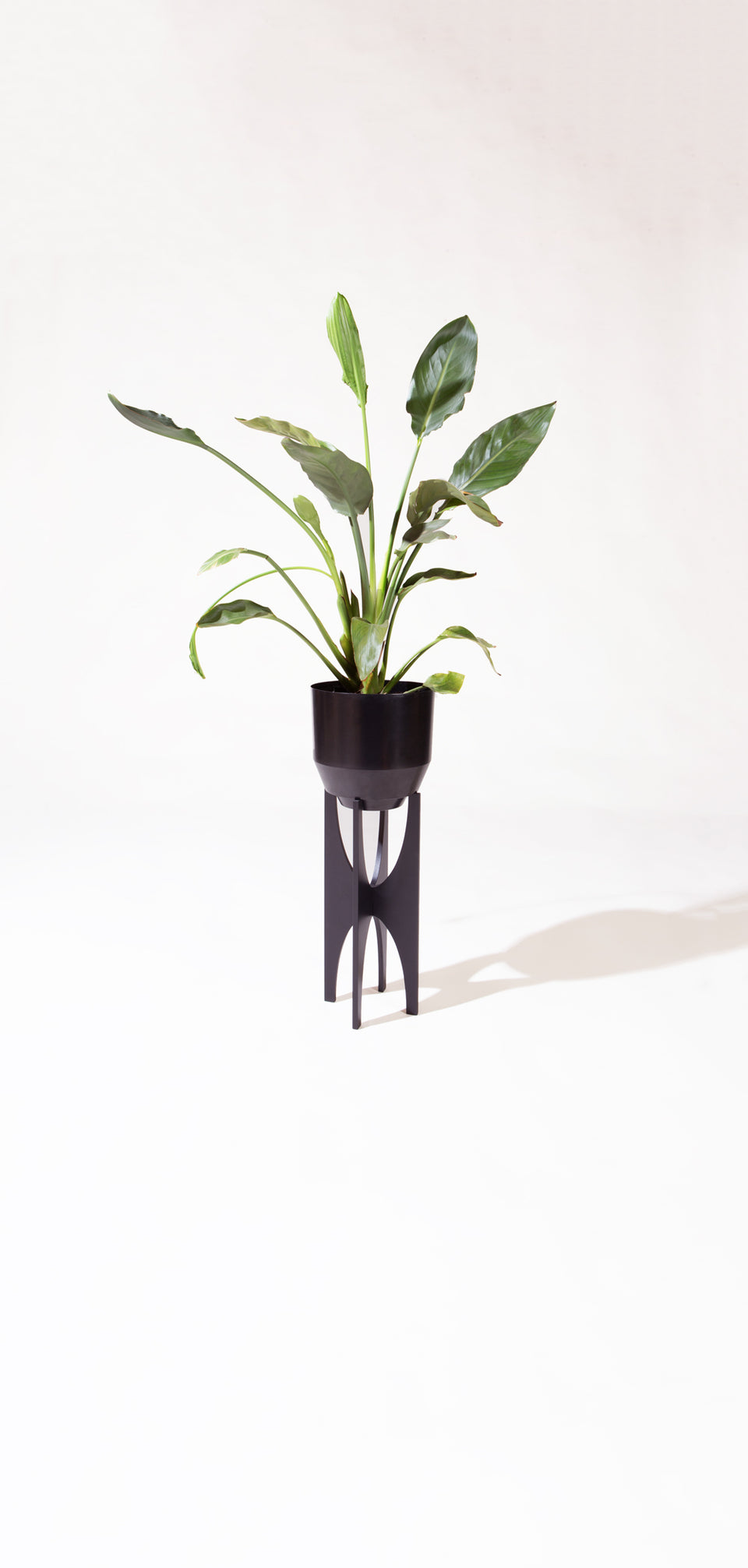 "8"" Spun Planter - Black"