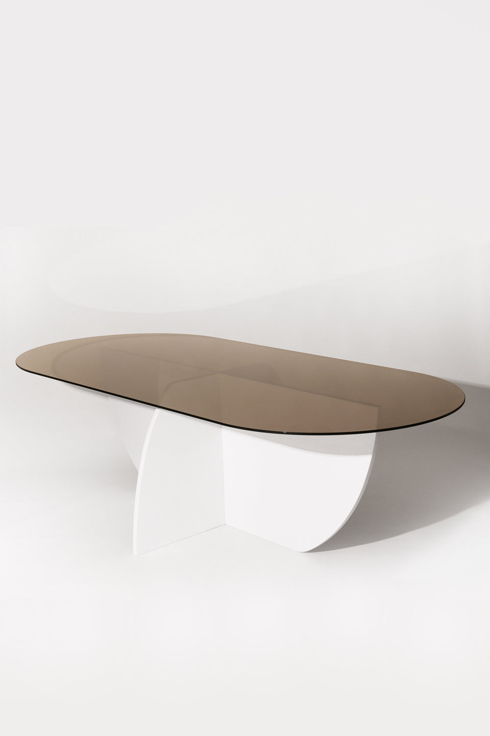Aurora Dining Table - White Mosaic Base / Bronze Glass
