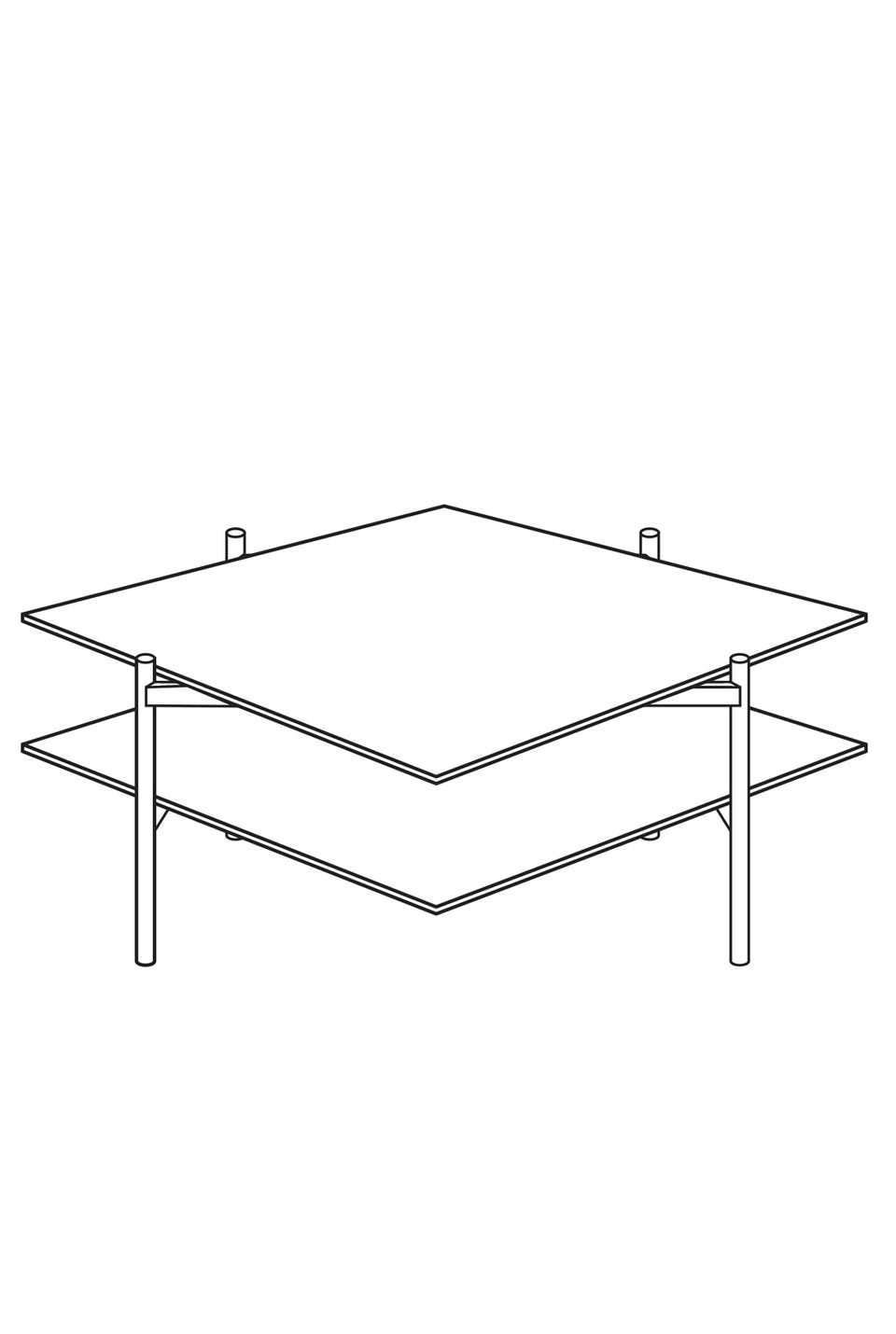 Customizable Duotone Diamond Coffee Table
