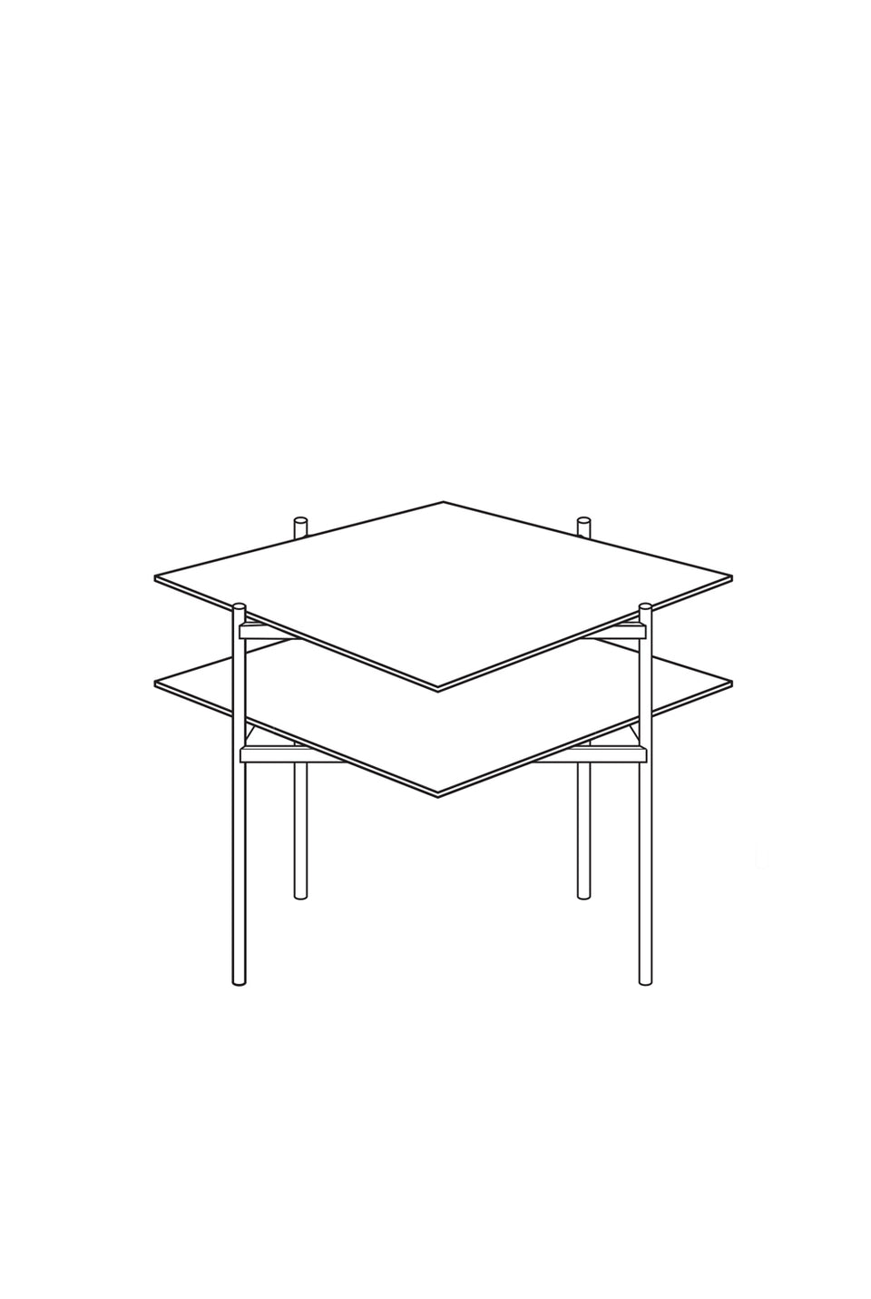 Customizable Duotone Diamond Side Table