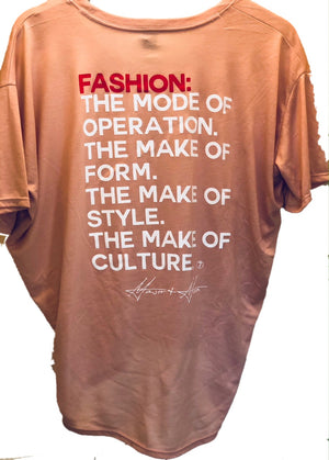 Major & Main Fashion Mode T-Shirt-Silhouette-Rose