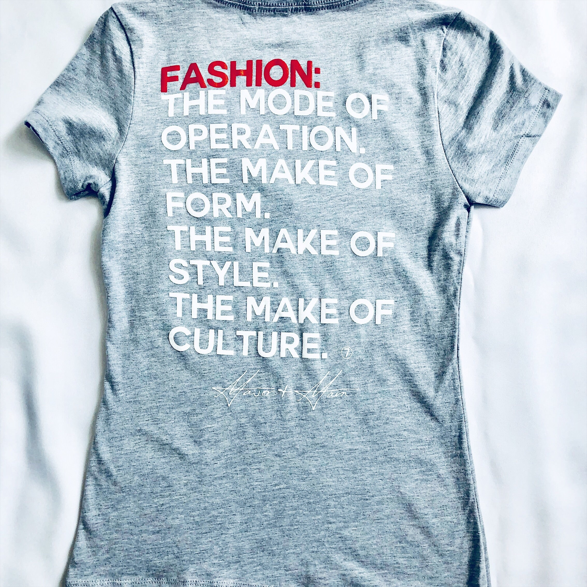 Major & Main- Fashion Mode T-Shirt-V-Neck-Heather Grey