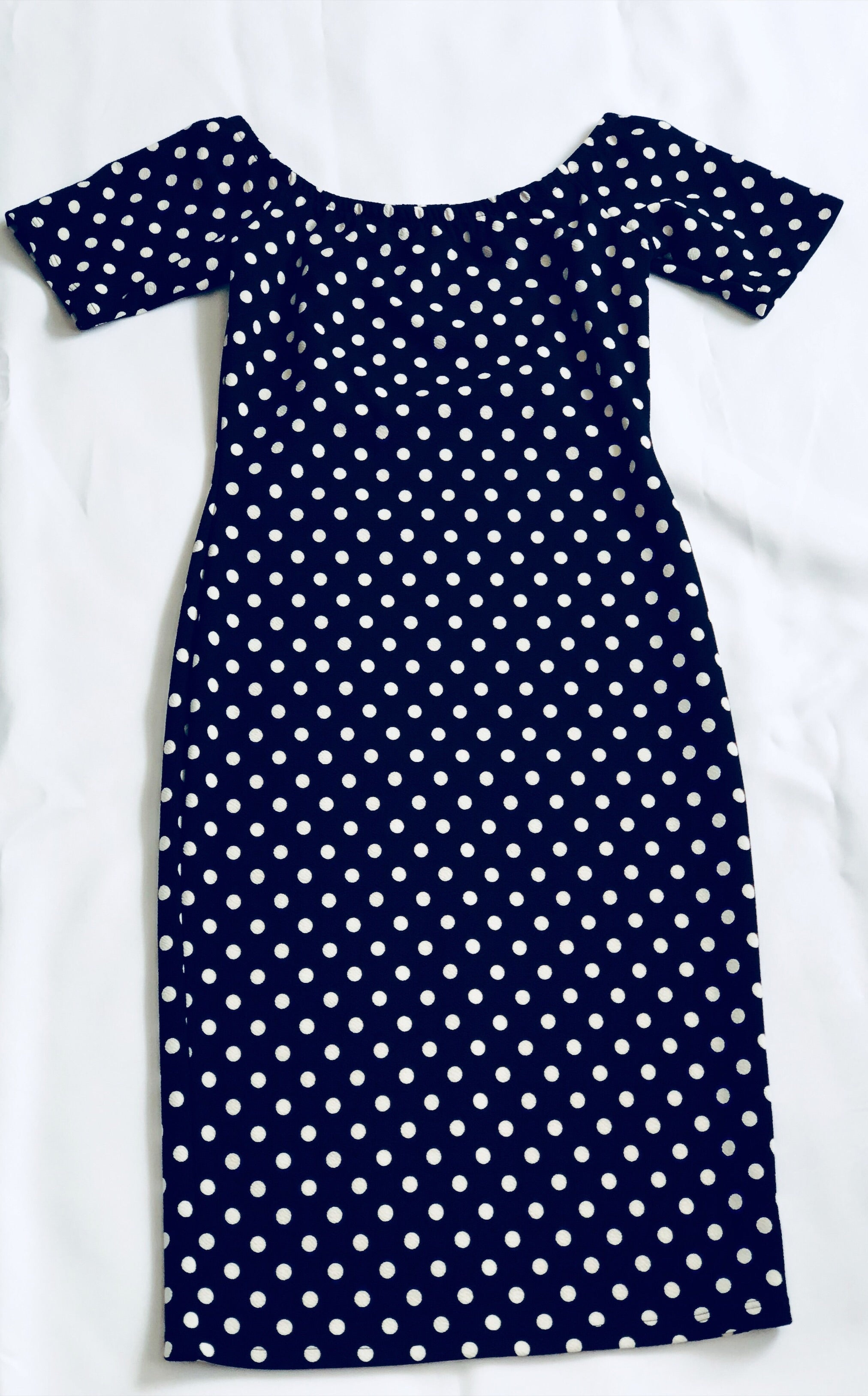 The Madison Polka Dot Printed Midi Dress