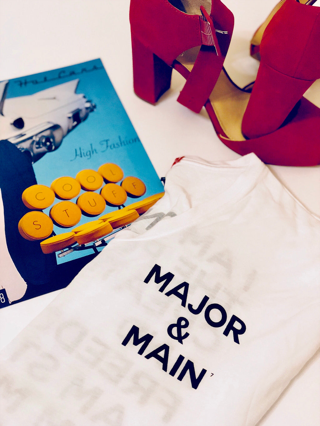Major & Main- Pursuit T-Shirt White