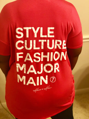 Major & Main Fashion T-Shirt Front Twist Pink