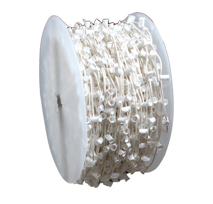 "C9 1000Ft. Spool, 15"" Spacing, White Wire"