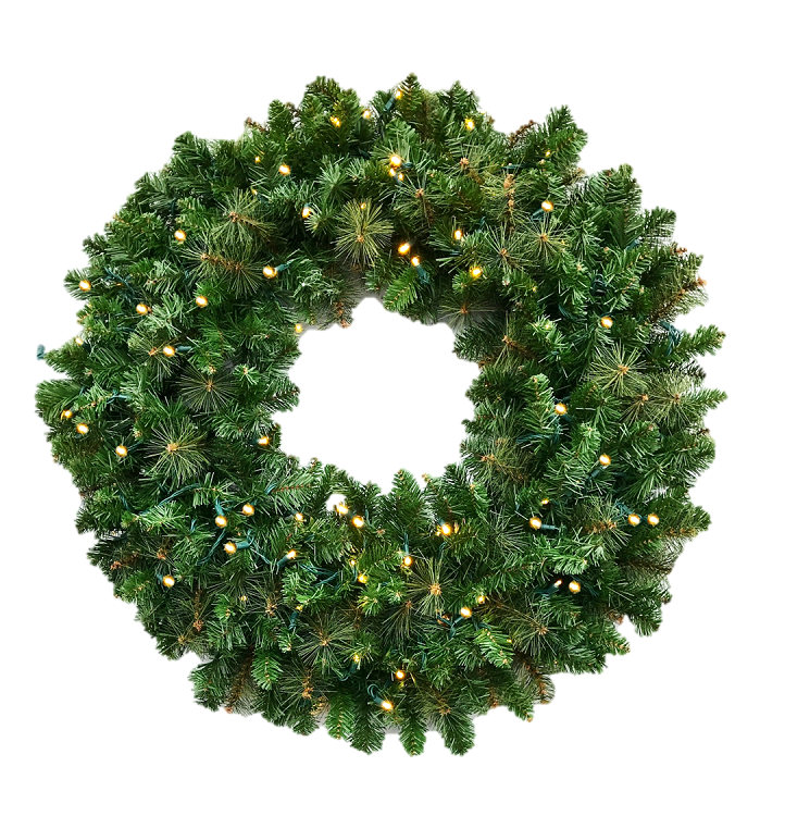 Mixed Pine Wreaths, 3FT & 4FT Sizes, Undecorated w/LED Lights