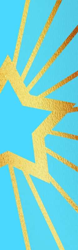Blue and Gold Star Banner