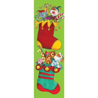 Cheerful Stocking Banner