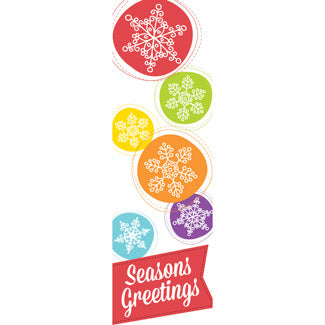Colorful Snowflakes Banner