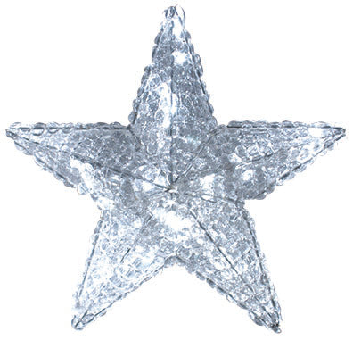 Cool White Crystal Star