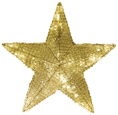 Warm White Crystal Star Tree Topper